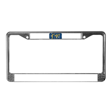 CHEER *15* {blue/gold} License Plate Frame