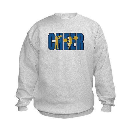 CHEER *15* {blue/gold} Kids Sweatshirt