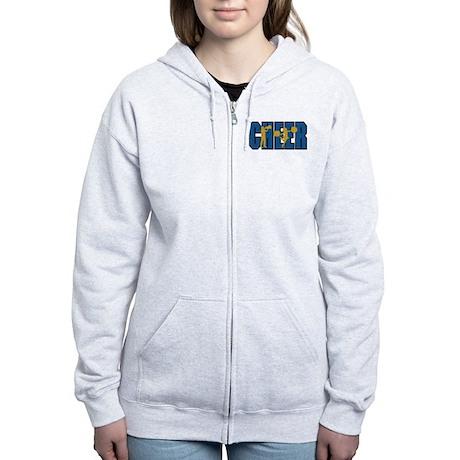 CHEER *15* {blue/gold} Women's Zip Hoodie