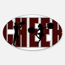 CHEER *15* {crimson} Sticker (Oval)