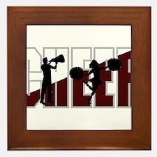 CHEER *16* {crimson/white} Framed Tile