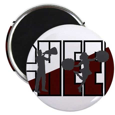 """CHEER *16* {crimson/white/gra 2.25"""" Magnet (10 pac"""
