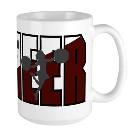 CHEER *16* {crimson/white/gra Large Mug