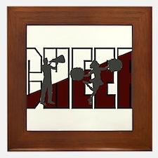 CHEER *16* {crimson/white/gra Framed Tile