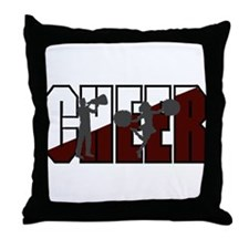 CHEER *16* {crimson/white/gra Throw Pillow