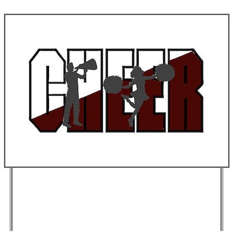 CHEER *16* {crimson/white/gra Yard Sign