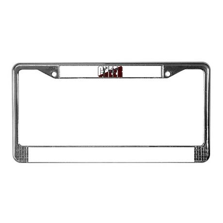 CHEER *16* {crimson/white/gra License Plate Frame