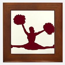 CHEER *17* {crimson} Framed Tile