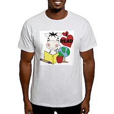 Zebra Love Reading T-Shirt