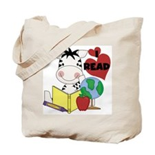 Zebra Love Reading Tote Bag