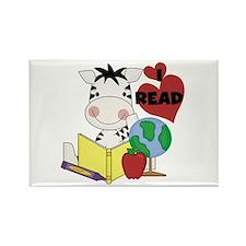 Zebra Love Reading Rectangle Magnet (100 pack)