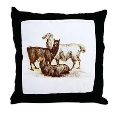 alpaca / llama Throw Pillow