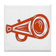 MEGAPHONE *4* {orange/white} Tile Coaster