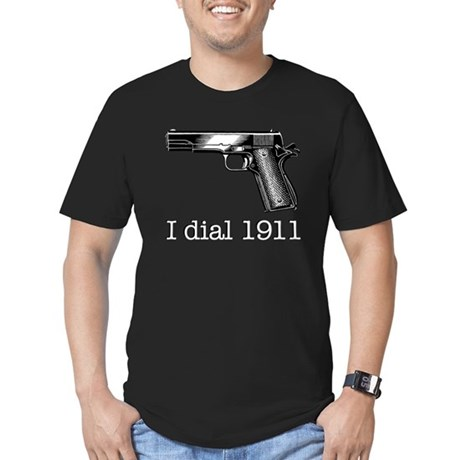 Dial 1911 Men's Fitted T-Shirt (dark)