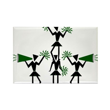 CHEER *29* {green} Rectangle Magnet (100 pack)