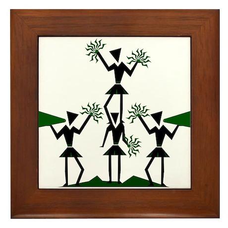 CHEER *29* {green} Framed Tile