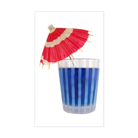 Red White Blue Drink Sticker (Rectangle)