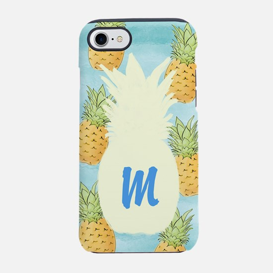 Pineapple Monogrammed iPhone 7 Tough Case