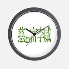 Jeffrey in Kanji -1- Wall Clock