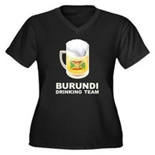 Burundi Drinking Team Women's Plus Size V-Neck Dar