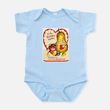 Vintage Valentine Infant Creeper