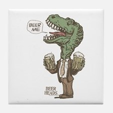Beer Me T. Rex Tile Coaster