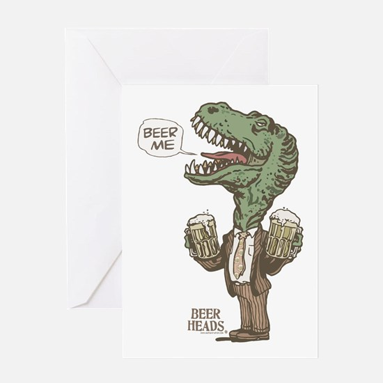 Beer Me T. Rex Greeting Card