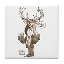 Beer Me Buck Tile Coaster