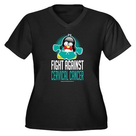 Fight Against Cervical Cancer Women's Plus Size V-