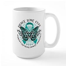 Cervical Cancer Tribal Butter Mug