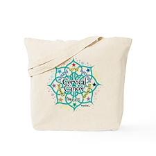 Cervical Cancer Lotus Tote Bag