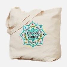 Cervical Cancer Lotus Tote Bag