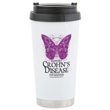 Crohn's Disease Butterfly Travel Mug