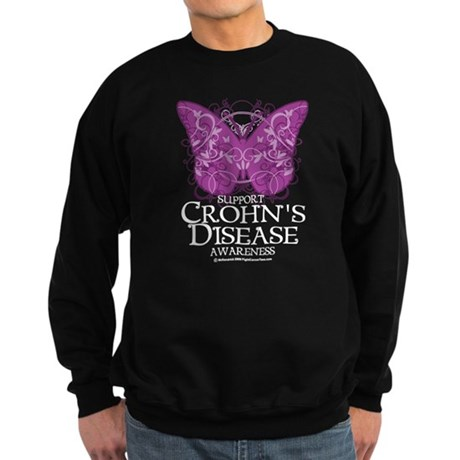 Crohn's Disease Butterfly Sweatshirt (dark)