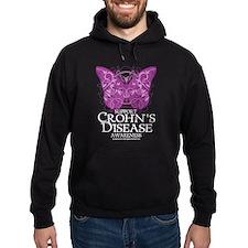 Crohn's Disease Butterfly Hoodie