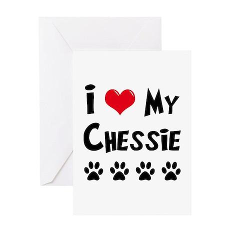 I Love My Chessie Greeting Card