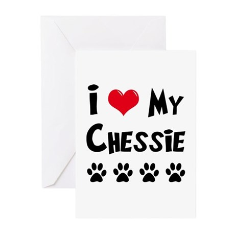 I Love My Chessie Greeting Cards (Pk of 20)