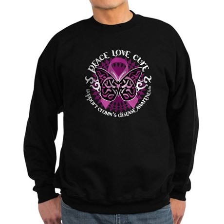 Crohn's Disease Tribal Butter Sweatshirt (dark)