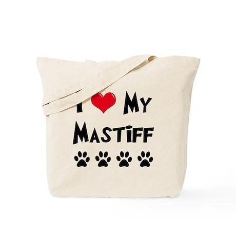 I Love My Mastiff Tote Bag