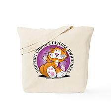 Crohn's Disease Cat Tote Bag