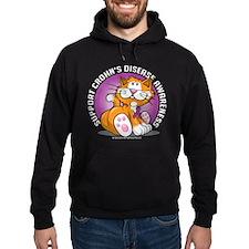 Crohn's Disease Cat Hoodie