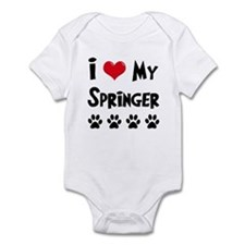 I Love My Springer Infant Bodysuit