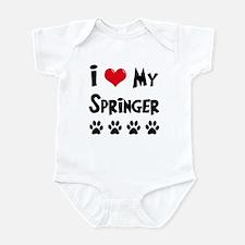 I Love My Springer Infant Bodysuit