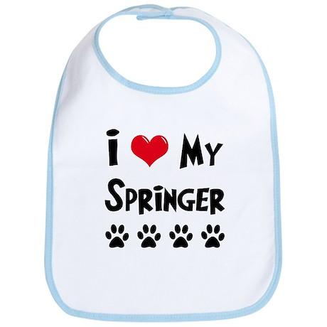 I Love My Springer Bib