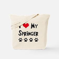 I Love My Springer Tote Bag