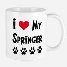 I Love My Springer Mug