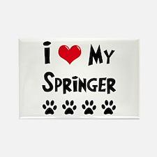 I Love My Springer Rectangle Magnet