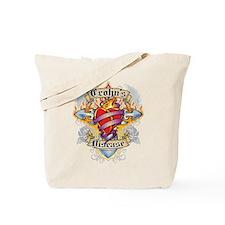 Crohn's Disease Cross And Hea Tote Bag