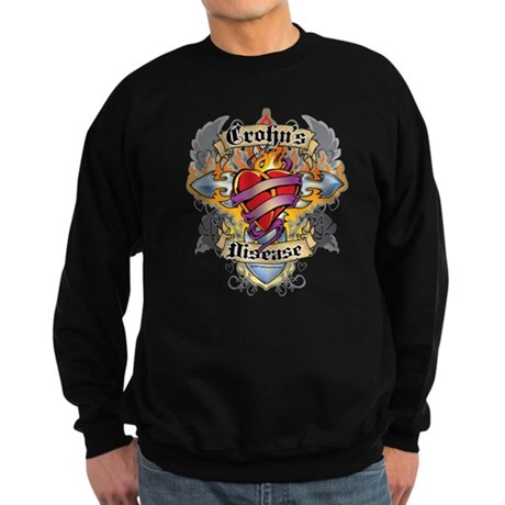 Crohn's Disease Cross And Hea Sweatshirt (dark)