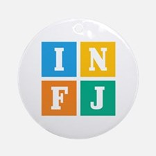 Myers-Briggs INFJ Round Ornament
